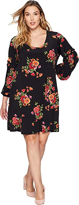 Plus Size Smocked Sleeve Taylor Dress