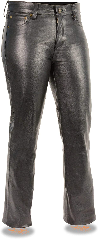 Milwaukee Leather LKL6790 Womens Classic 5 Pocket Black Leather Pants 12