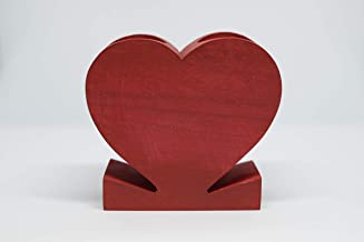 Nimo Red Wooden Decor Heart Candle Holder