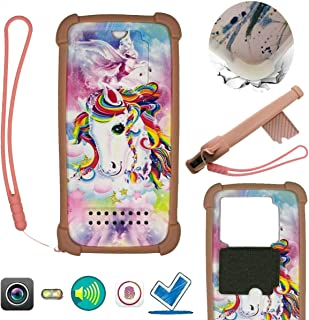 Case For Tecno Pop 3 Plus Case Silicone border + PC hard backplane Stand Cover CSTM