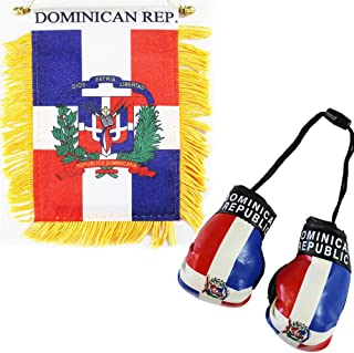 Flagline Dominican Republic - Boxing Glove and Window Hanger Combo