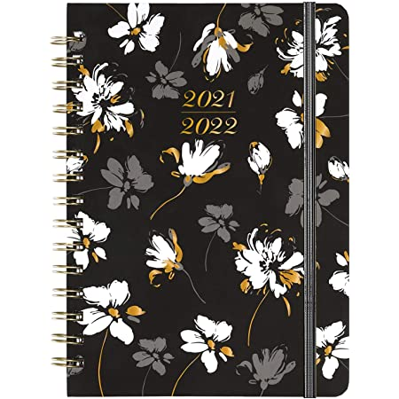 2021-2022 Diary, A5 Week to View Diary from July 2021 to June 2022, 2021-2022 Hardcover Diary with Inner Pocket, Twin-Wire Binding, 21.5 x 15.5 cm