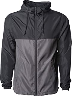 Sponsored Ad - Klothwork Men's Super Lightweight Windbreaker Jacket Water Resistant Zip Hoodie
