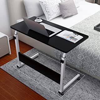 US Fast Shipment Tuscom Simple Portable Table Adjustable Folding Bed Tray for Laptop Desk Reading Notebook Stand (80cm x 40cm) (Black)