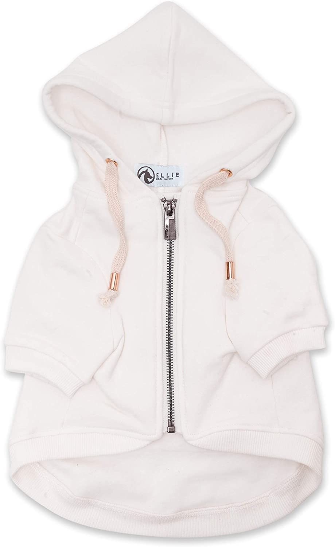 Ellie Dog Wear Adventure Zip White half Accents Hoodie Gold Up Ranking TOP8