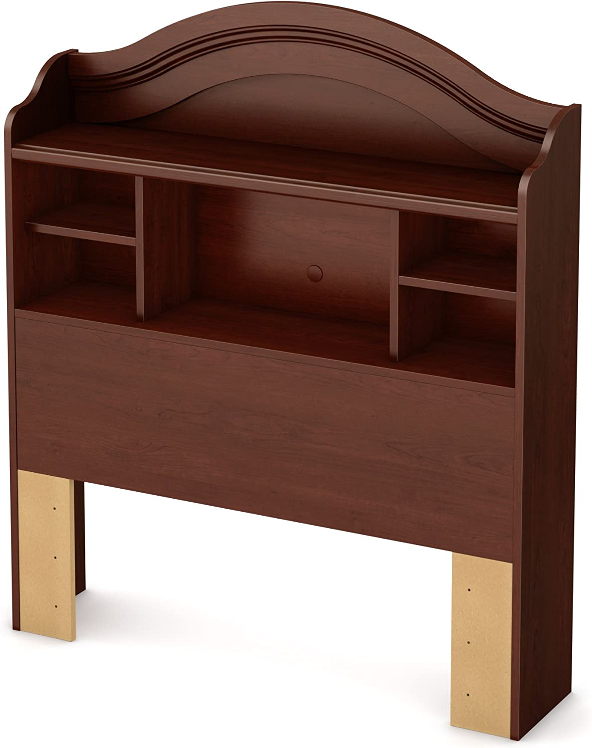 South Shore Summer Breeze Twin Bookcase Headboard, 39-Inch, Royal Cherry