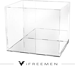 iFREEMEN 【完全3mmアクリル】 PREMIUM コレクションケース フィギュアケース (30x20x25cm, 台座ミラー+背面ミラー)