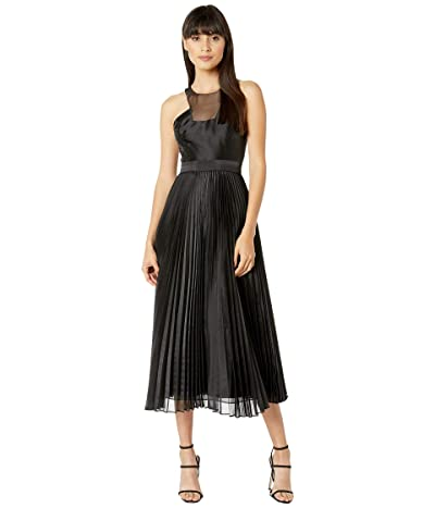 BCBGMAXAZRIA Pleated Dress (Black) Women