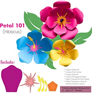 Best giant hibiscus paper flower template Reviews