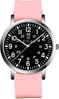 TICCI Unisex Men Women Medical Quartz Watch Arabic Numerals Military Time Easy Read Dial Silicone...