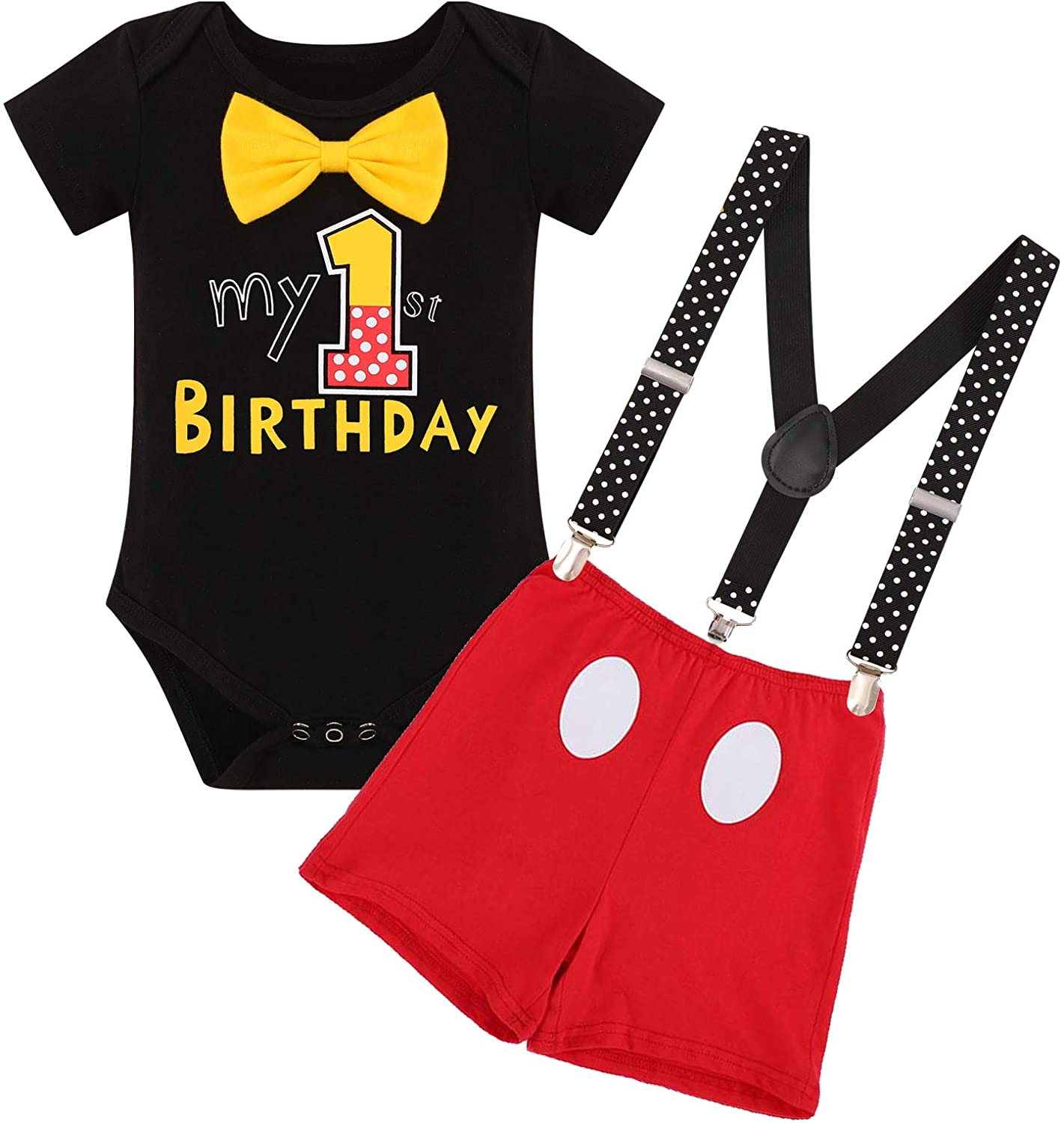 First Birthday Max 90% OFF Cake Smash Mouse Outfits Baby Gentleman Boys Free Shipping New for