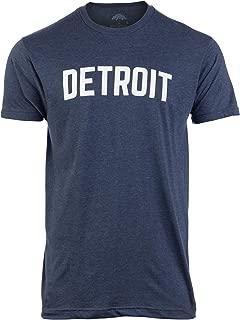 Detroit | Classic Retro City Grey Blue Red Black Detroiter 313 Cool Michigan Men Women T-Shirt