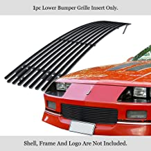 APS Compatible with 1988-1992 Chevy Camaro Lower Bumper Stainless Steel Black 8x6 Horizontal Billet Grille Insert C85241J