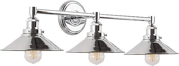 Andante LED Industrial 3 Light Wall Sconce - Chrome Fixture - Linea di Liara LL-WL437-PC