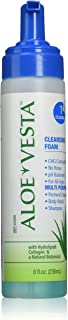 Sponsored Ad - Aloe Vesta Cleansing Foam, No Rinse Skin Cleanser, Clean Scent - 8 Ounce Pump Bottle