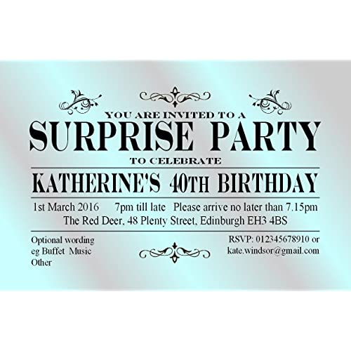 Surprise Party Invitations Amazon Co Uk