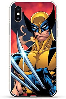 iPhone Xs Max Case,Transparent Soft TPU Protective Cover for Apple iPhone Xs Max-Wolverine 1