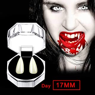GFSGNA Vampire Teeth/Fangs for Halloween & Theatrical Performances (Classic Beige Fangs)
