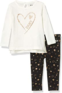 DKNY Girls' Baby and Toddler Layette Set