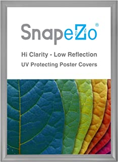 SnapeZo Silver Poster Frame A2 Size, 1.2 Inch Aluminum Profile, Front-Loading Snap Frame, Wall Mounting, Premium Series