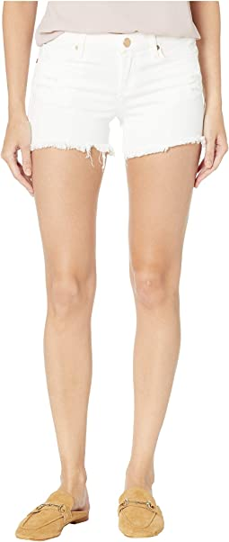 The Lenox Distressed Shorts in Great White