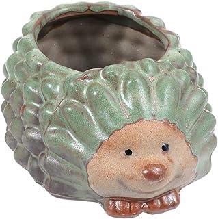 BinaryABC Hedgehogl Succulent Planter Pots, Mini Flower Plant Pot,Home Office Desk Ornament Decor