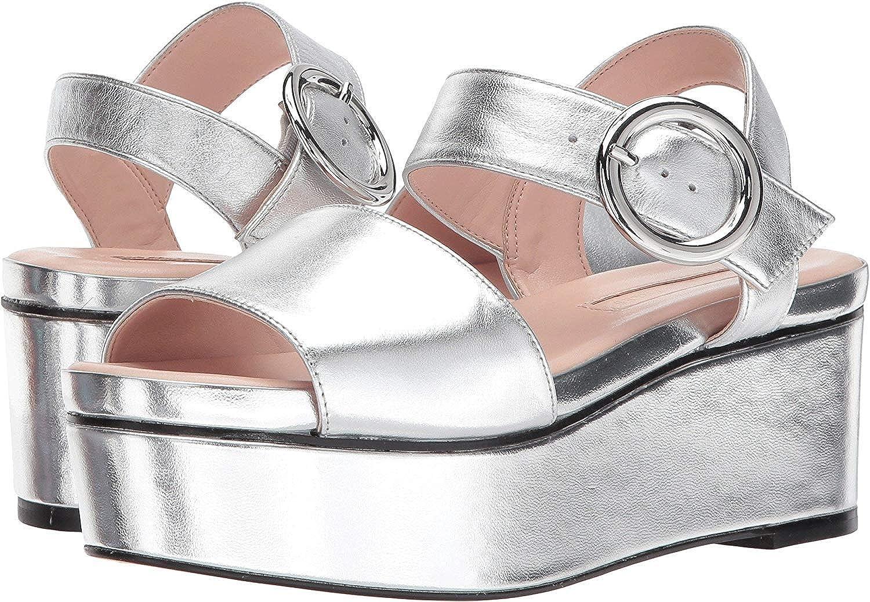 Avec Les Filles Womens Audra Silver Nappa Size 8.0