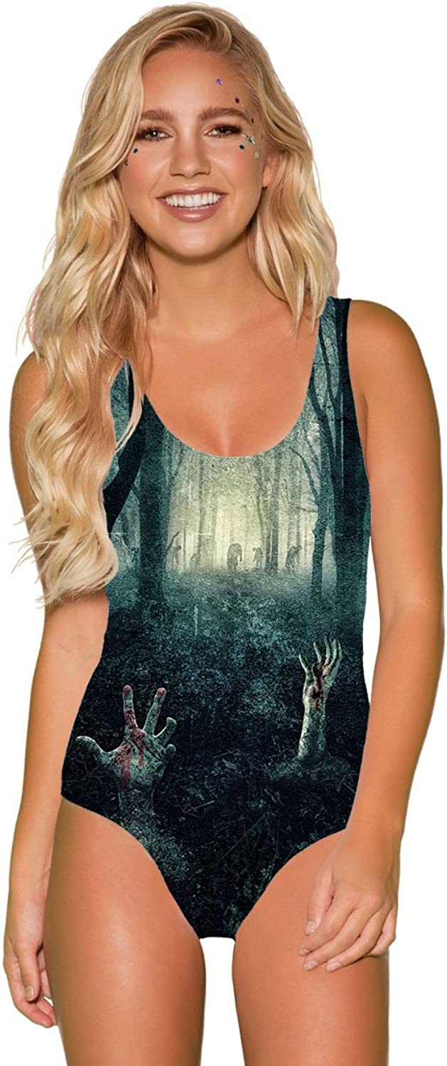 INTO THE AM Zombie Attack Premium All Over Print Bodysuit