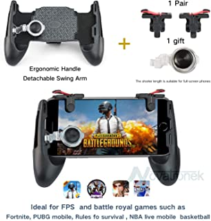 CASTEL Mobile Game Controller,Game Pad Sensitive Shoot and Aim Keys Joysticks Game Controller for iOS and Android