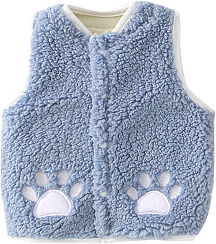 Toddler Bbay Girl Fleece Vest Kids Girls Boys Cartoon Outdoor Waistcoat Vest Windproof Coat
