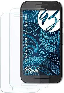 Bruni Skärmskydd är kompatibel med Motorola Moto G 3. Generation 2015 Film, kristallklart Skyddsfilm (2X)