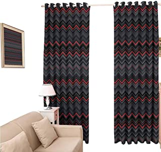Thermal Insulating Blackout Curtain, Eclipse Curtains 108 Inches Long for Cottage, Colorful Puzzle Pieces Fractal Children Hobby Activity Leisure Toys Cartoon, Multicolor, 120x108 inch