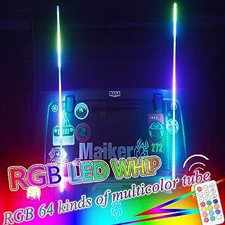 POLARIS RZR SPIRAL TWISTY WRAPPED DREAM LED 5/' WHIP SINGLE 316 MODES REMOTE