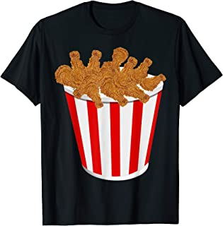 Fried Chicken Bucket Funny Fast Food Costume Shirt
