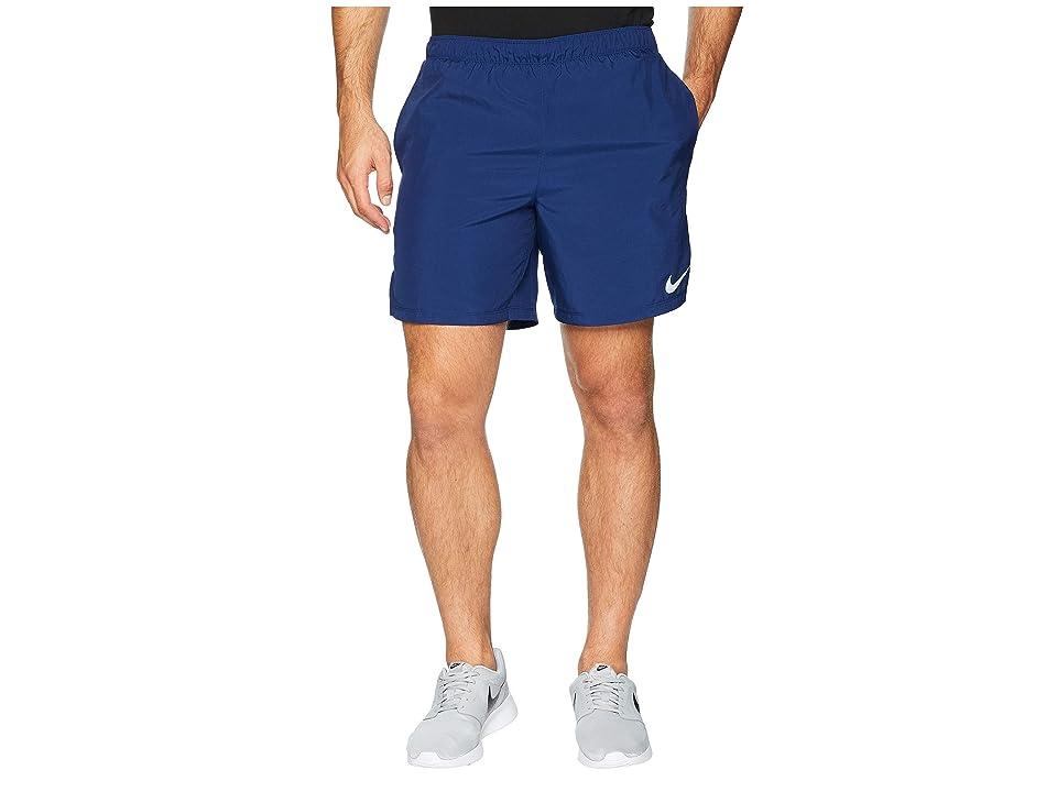 Nike Challenger 7 Dri-Fit Running Short (Blue Void/Blue Void/Gym Blue) Men