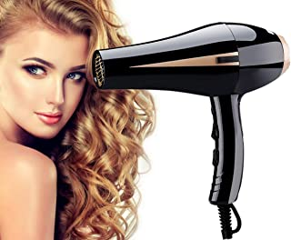 Hair Dryer,1875W Hair Dryer Powerful Fast Blow Dryer Quick Drying with 2 Concentrator Cool Shot Button 2 Speed 3 Heat Settings Lightweight for Travel (Black)