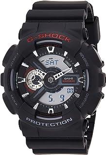 كاسيو ساعة كاجوال كواترز عرض انالوج-رقمي للرجال Ga110-1A، سوار اسود