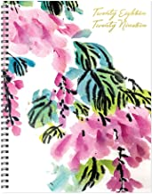 TF Publishing 19-9599A July 2018 - June 2019 Floral Large Weekly Monthly Planner, 9 x 11