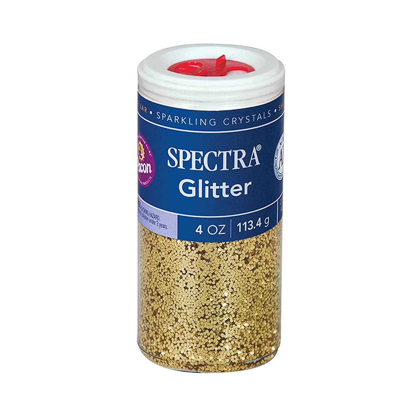 Pacon Spectra Glitter Sparkling Crystals, Gold, 4-Ounce Jar (91680)
