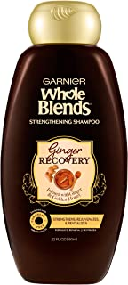Garnier Hair Care Whole Blends Ginger Recovery Strengthening Shampoo, 22 Fluid Ounce