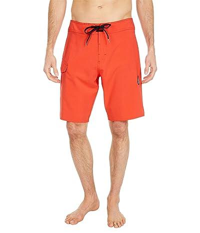 Volcom Lido Solid Mod 20 Boardshorts (Lava Rock Red) Men