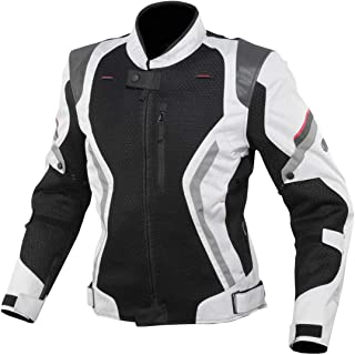 コミネ(KOMINE) バイク用 リフレクトメッシュジャケット ライトグレイ/ブラック L JK-144 12953 春夏秋向け メッシュ素材 プロテクター CE規格