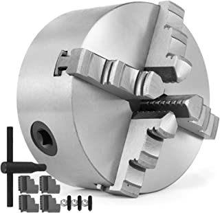 Mophorn K12-100 4 Inch 100 mm Lathe Chuck 4 Jaw Self Centering Wood Turning Chuck for Woodworking Lathe