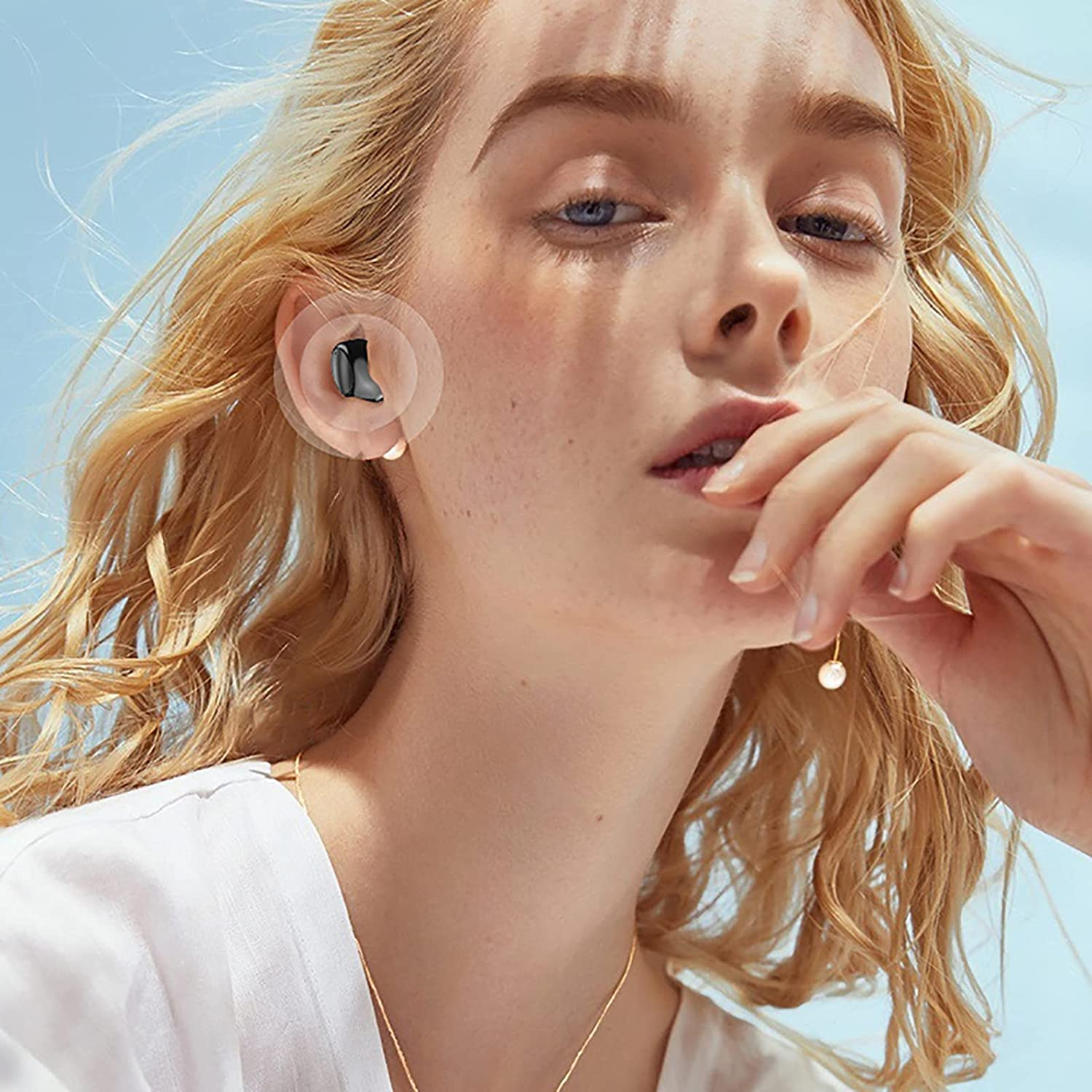 1pc Wireless Earbuds, Bluetooth 5.0 Headphones Mini Bluetooth Earbuds with HD Mic, Wireless Earphones in Ear with USB C Charging Case, IP7 Waterproof, Deep Bass, 30H Playtime Headset for Sports