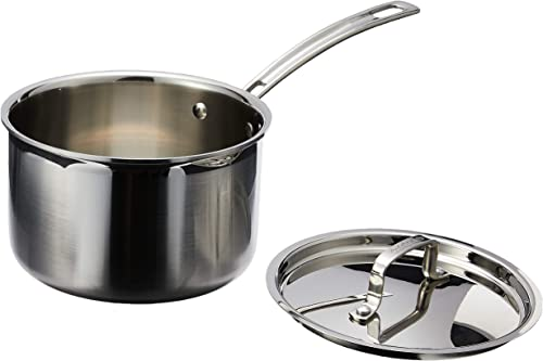wholesale Cuisinart MultiClad Pro Stainless Steel 3-Quart online outlet online sale Saucepan with Cover sale
