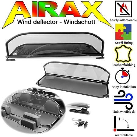 Windabweiser Windscherm Windstop Wind deflector d/éflecteur de vent Airax Windschott f/ür The Beetle ab Bj 2012