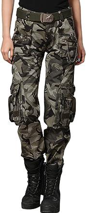 chouyatou Women's Casual Camouflage Multi Pockets Pants