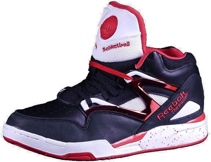 Reebok pump sneaker uomo nero nero V56103