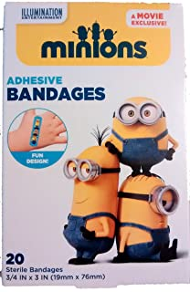 Despicable Me Minions Bandages,  3/4 X 3 Twenty Count Per Box,  Pack of Two Boxes