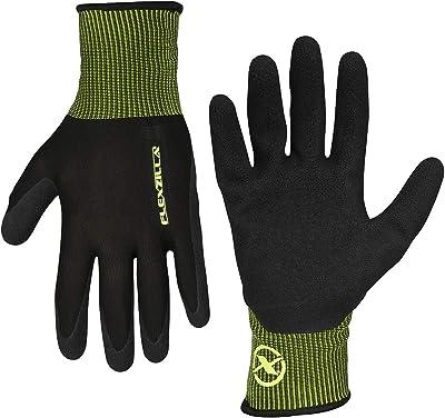 Flexzilla GC220L Foam Latex Dip, Black, L General Purpose Glove, Large